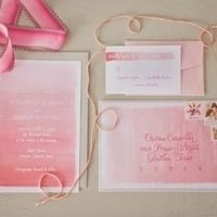 pink ombre wedding stationery - photo by nbarrett photography Watercolor Invitations, Invitation Paper, Invitation Suite, Pink Invitations, Invitation Ideas, Invitation Design, Unique Wedding Invitations, Wedding Stationary, Dream Wedding