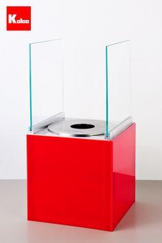 Koloo Nago S Bio-Fireplace  Red Acrylic  www.koloo.it