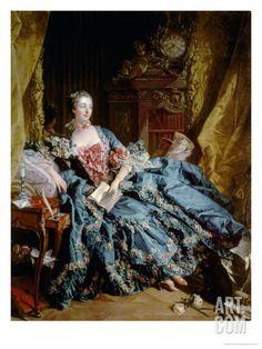 Madame De Pompadour Giclee Print by Francois Boucher at Art.com