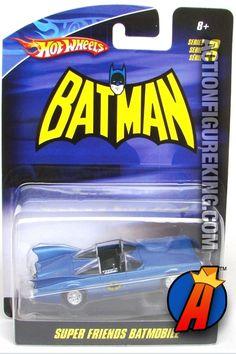 DC Comics Universe Batman Super Friends Batmobile 1/50 die-cast vehicle from Hot Wheels