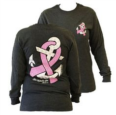 Southern Couture Hope Anchors Breast Cancer Pink Ribbon Awareness Girl | SimplyCuteTees