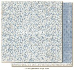 Maja Design - Vintage Romance Collection - Double Sided Cardstock - Forget Me Not- Vintage Romance, Forget Me Not, Paper Size, Card Stock, Pattern, Inspiration, Image, Collection, Ark