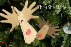 Then she made...: Christmas memories/home made decorations. trace tiny hand and feet