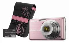 Sony Cybershot DSC-S980 12MP Digital Camera with 4x Optical Zoom with Super Steady Shot Image Stabilization with Case and 2GB Memory Stick (Pink) by Sony. $349.99. From the Manufacturer                 Unlock your creativity with the 12.1-megapixel DSC-S980 Cyber-shot digital camera. Offering an array of shooting modes and easy-to-use features, the S980 is equipped with SteadyShot image stabilization for reduced camera blur and also has high sensitivity ISO 3200 for b...