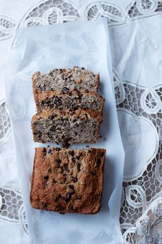 chocolate chip banana bread with walnuts and cacao nibs -- gluten free and dairy free recipe via will frolic for food blog
