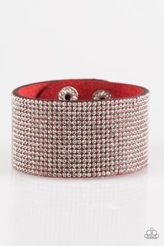 Roll With The Punches   $5 - No Tax #bracelet #uniquelyurban #red #suede #rhinestones #yourblingboss