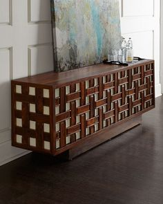 Kenny Basketweave Sideboard by Global Views at Neiman Marcus.