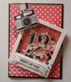 handmade by Julia Quinn - Independent Stampin' Up! Demonstrator: Welcome to our New Colours! Scrapbook Cards, Scrapbooking, Camera Cards, Masculine Birthday Cards, Stampin Up Catalog, Shaker Cards, Kids Cards, Cute Cards, Homemade Cards