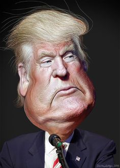 https://flic.kr/p/MnNtpz | Donald Trump - Caricature | Donald John Trump, Sr., aka Donald Trump, is a celebrity business man and media personality. He is the 2016 Republican candidate for President of the United States.    This caricature of Donald Trump was adapted from Creative Commons licensed images from Michael Vadon's flickr photostream.