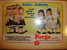 MR225 Furga catalogo  71, Betty e Babette piccole bambole camminano - Pubblicità