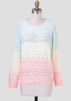 Sweet Sherbet Pastel Sweater