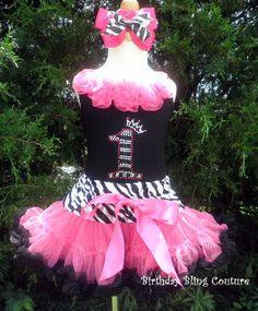 Birthday Reversed Wild Zebra Bling by birthdayblingcouture on Etsy
