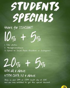7-31 Mar 2016: Body Glove Students Specials Promotion