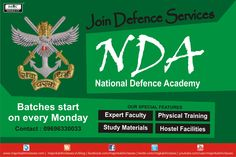 Become part of #NDA, the first military academy in the world where three forces – #Army# Navy and #Air Force serve THE NATION. News Batches Starts Every Monday Join Soon. 1.Special attention given to each and every students. 2.Daily doubt clearing session for students. 3.Online Mock Test are also available. 4.Full Course Study Material. 5.Ground training classes.Admission call on-09696330033, 9936487788 Visit Our #Website: http://majorkalshiclasses.in  Email us- majorkalshiclas