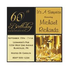 Surprise 60th Birthday Party Invitations From Zazzle