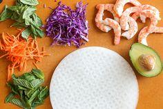Shrimp Summer Rolls with Peanut Hoisin Dipping Sauce | Skinnytaste