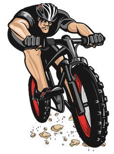 Bicycle Safety, Bicycle Art, Cycling Art, Cycling Bikes, Bmx, Montain Bike, Bike Logo, Bike Tattoos, Bike Illustration