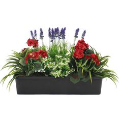 Buy best-selling artificial mixed flower window box at Blooming Artificial. Bright vibrant colours make this window box a winner. Balcony Flower Box, Window Box Flowers, Shade Flowers, Flower Planters, Flower Boxes, Faux Flowers, Silk Flowers, Spring Flowers, Window Boxes