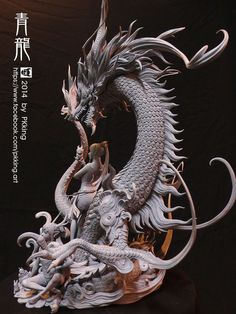 Easy Clay Sculptures : Azure Dragon by on deviantART - Dear Art Chinese Dragon, Chinese Art, Fantasy Dragon, Fantasy Art, Zbrush, Toy Art, Dragons, Clay Dragon, 1 Tattoo