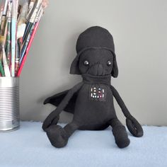 May the is here and some of us have been waiting to find an excuse to make Starwars foods, crafts and of course dolls! This Sock Doll is made using, yep Socks! This Darth Vader is adorably cut… Felt Doll Patterns, Stuffed Toys Patterns, Sewing Patterns Free, Free Sewing, Free Pattern, Sock Dolls, Felt Dolls, Crochet Dolls, Rag Dolls