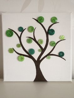 Button tree canvas - would love to try this!                                                                                                                                                     More