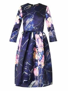 Floral-print duchess-satin dress | MSGM | MATCHESFASHION.COM