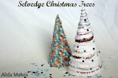Selvedge Christmas Trees