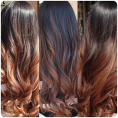 Love my new 2014 look Butterscotch caramel balayage highlights multidimensional ombre color melt on natural dark brown / black brunette hair...simply gorgeous ~hair by Jessica Segobia @salonpaz