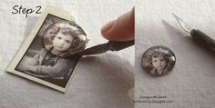 Saving with Sarah: DIY Photo Pendant. Maybe do this with wedding dress lace like I've seen on etsy?