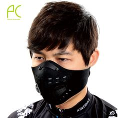 Anti-pollution City Cycling Face Mask Mouth-Muffle Dust Mask   #fitnessaccessories #mask #cycling #dustprotection #snowboard #sportswear
