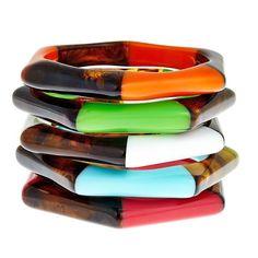 Maui Tortoise Shell Bangle Bracelets - Resort Ready!  SwellCaroline.com