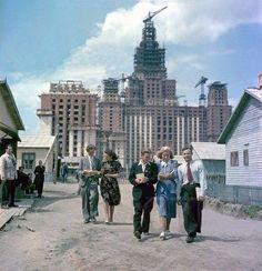 Стройка МГУ 1949-1953 гг.