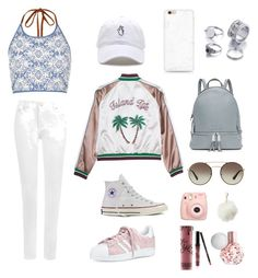 """CASUAL BUT CUTE"" by tabby-ullah on Polyvore featuring WearAll, River Island, Converse, adidas, MICHAEL Michael Kors, Fujifilm, Charlotte Russe, Prada and Kylie Cosmetics"