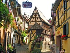 Alsace Lorraine, France where my dad's family is from...MUST go one day! So cute.