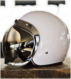 I'll be working this baby on the Moto Guzzi. Biltwell Bubble Shield Visor.