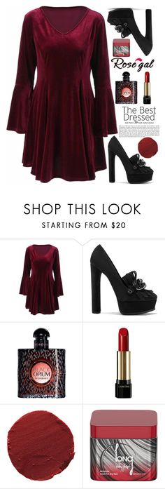 """""""99 ROSEGAL"""" by erohina-d ❤ liked on Polyvore featuring beauty, Casadei, Yves Saint Laurent, Lancôme, Ilia and Valery Joseph"""