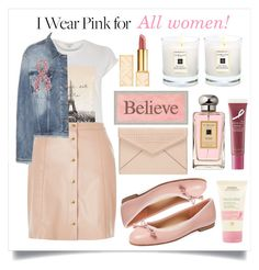 """I wear pink for..."" by alaria ❤ liked on Polyvore featuring River Island, French Sole FS/NY, Acne Studios, Rebecca Minkoff, Jo Malone, Aveda, Tory Burch, Origins, contestentry and IWearPinkFor"