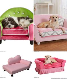 Your princess pup deserves her own pink sofa bed to snuggle up in when she tires of her adoring public.