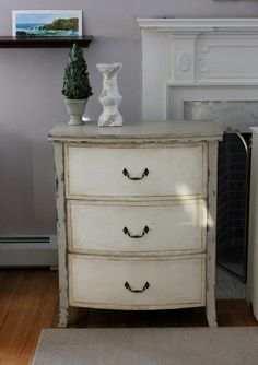 Chest of Drawers - Annie Sloan Country Grey and Old White Coast to Cottage - Painted Furniture