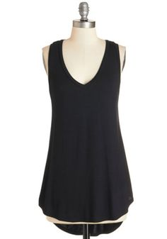 ModCloth Athletic Long Sleeveless Endless Possibilities Tunic in Black