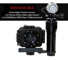 Intova Edge X Action Camera and Video Light System plus 32Gb Memory Card from The Scuba Doctor.