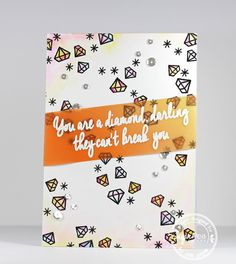 Card by Isha Gupta for SugarPea Designs.  Stamps: Sparkle & Shine.    Friendship Card.
