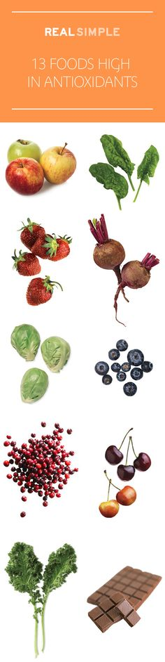 Eating these 13 foods high in antioxidants may help ward off diseases—plus, they're delicious.