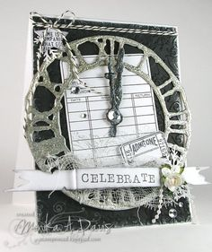 Love this card and have been looking at ideas for my Tim Holtz weathered clock die