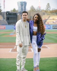 THINK BLUE: We pretty much came to get all the bread and leave ... @victoriamonet  @helmutlang  @dodgers by drippyniem