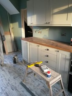 Kitchen from howdens Burford grey