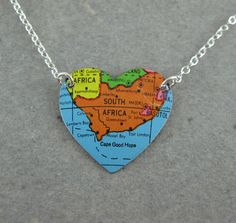I South Africa. I want this necklace! Visit South Africa, My Heart, Afrikaans Language, My Love, Travel Journals, Southern, African, Crafty, Explore