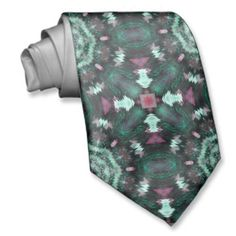 #Green Abstract #Tie by #RiverRockArts on #Zazzle