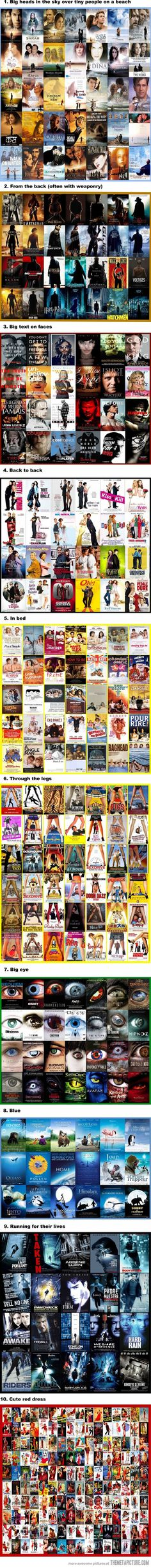 movie-posters-cliches ~~ it would take me months to do this ~ great idea !