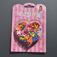 Children's Jewellery Making Kit Wooden Beads Elastic Thread Craft Kids in Crafts, Children's Crafts | eBay